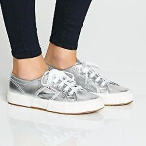 Superga Cotmetu Metallic Lace Up Sneakers